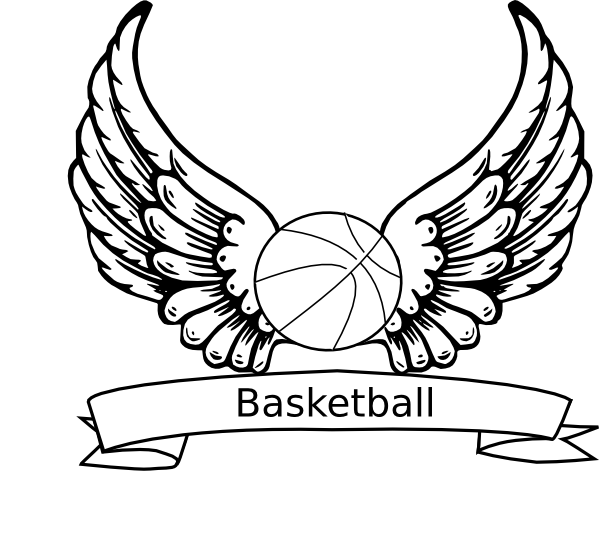 Basketball Angel Wings Clip Art at Clker.com.