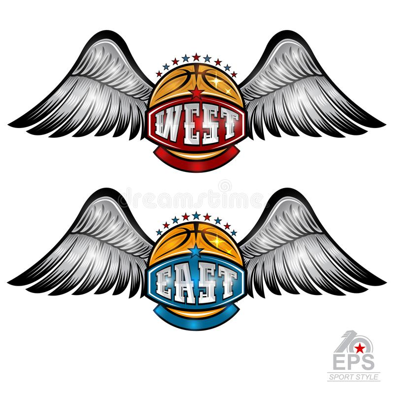Basketball Wings Stock Illustrations.