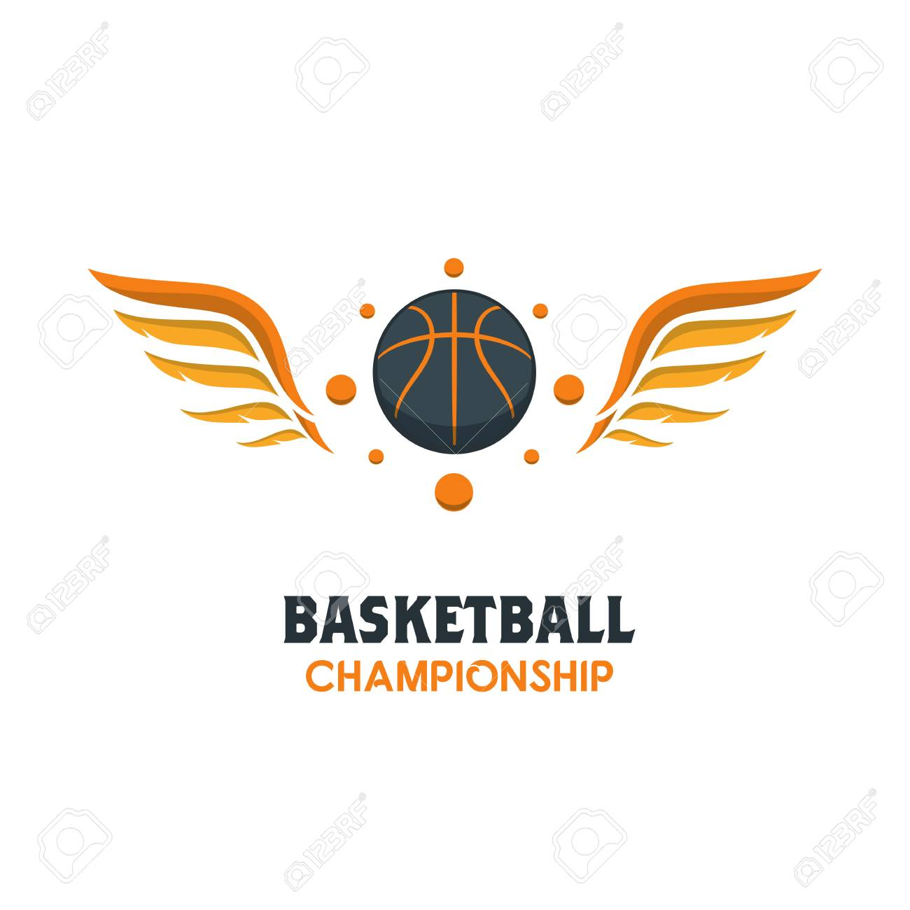 Silhouette of Basketball Ball. Basketball Logo Template using...