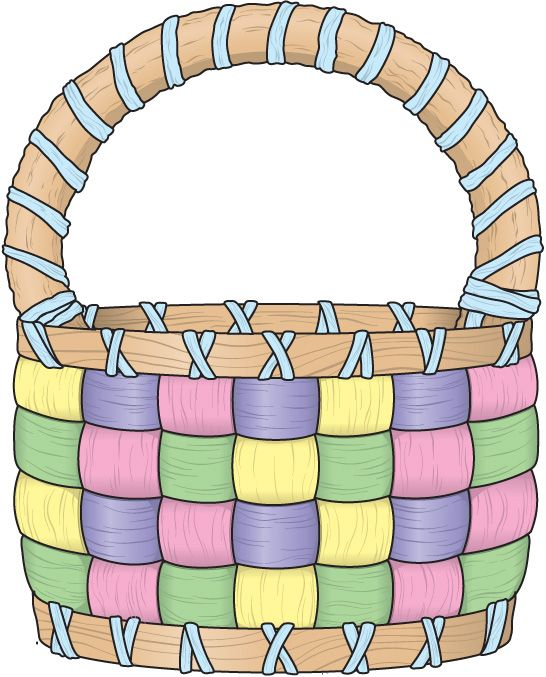 Empty easter baskets clipart.