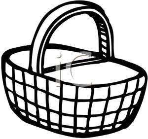Cartoon clip art of baskets.