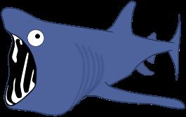 Basking Shark Clipart.