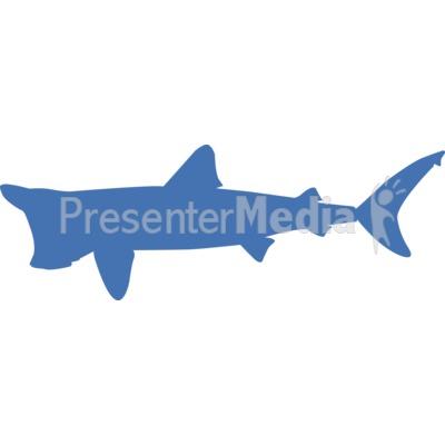 Basking Shark Silhouette.