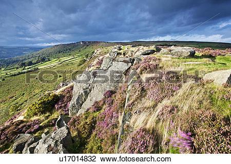 Stock Photo of England, Derbyshire, Baslow Edge, Baslow Edge.