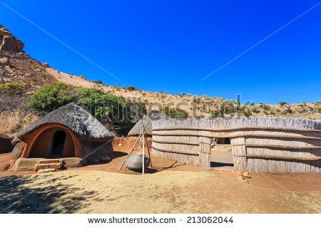 Basotho Cultural Village Huts Stock Photos, Royalty.