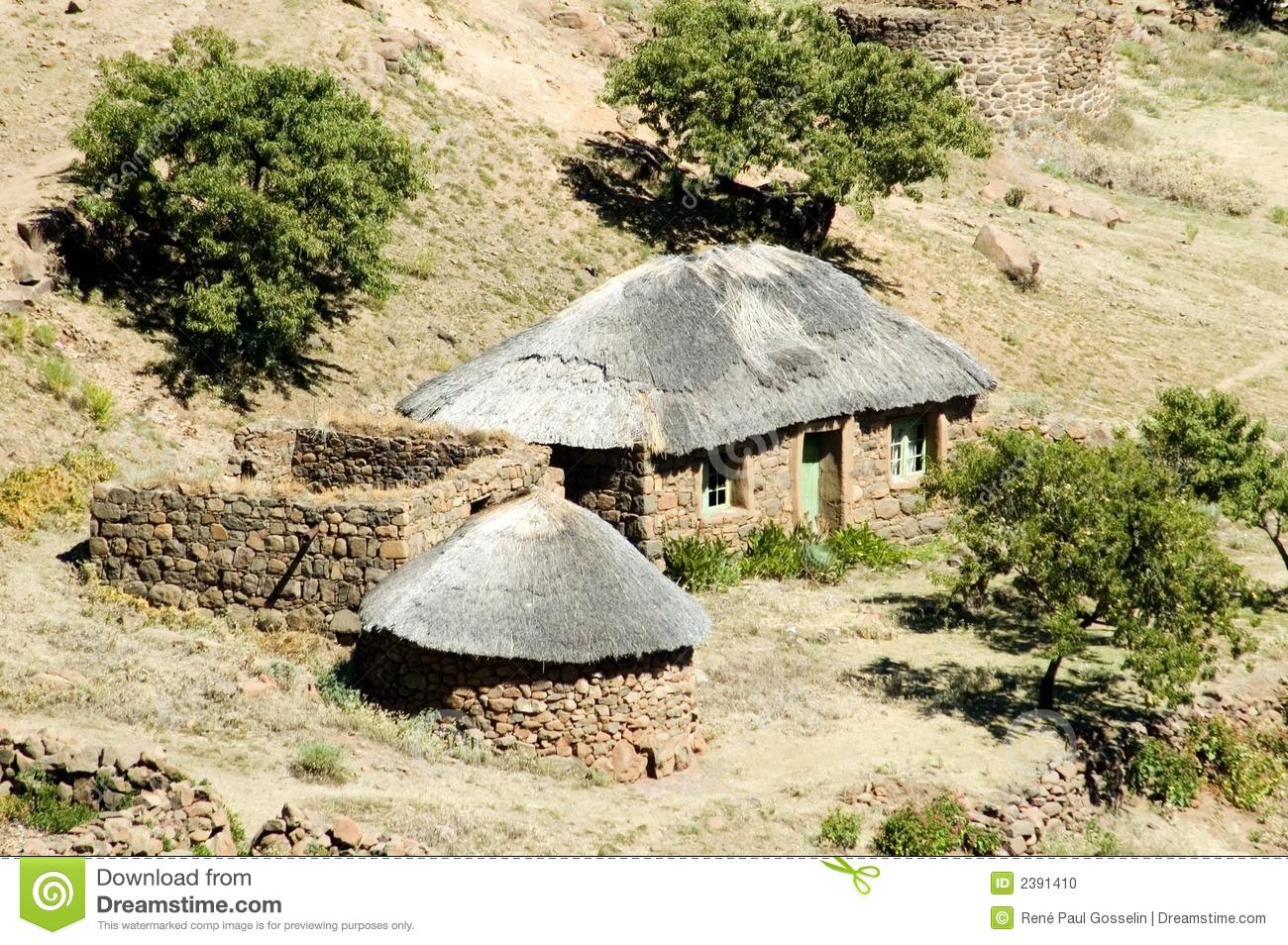 Basotho Village. Royalty Free Stock Image.