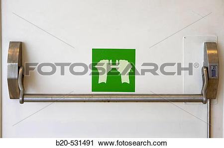 Stock Photography of Puerta de salida, Seguridad contra incendios.