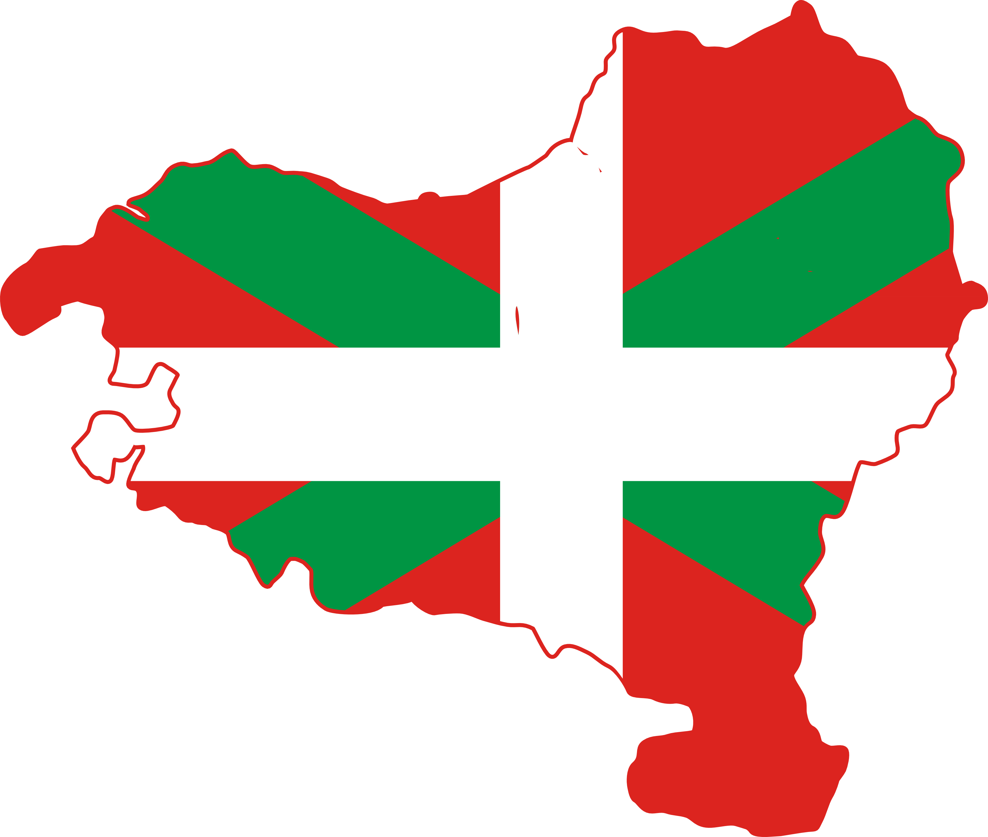 Flag Map of Basque Country scallywag Flag SVG Flagartist..