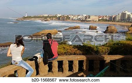 Picture of Basque Coast, Biarritz, Aquitaine, Basque Country.