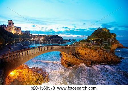 Pictures of Sainte Eugenie Church, Bridge, Basque Coast, Biarritz.
