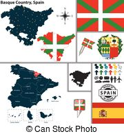 Clip Art Vector of Basque Country flag.