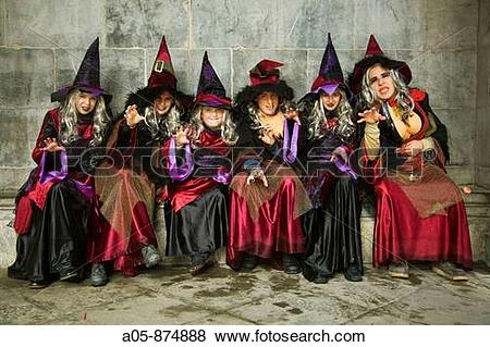 Pictures of Girls dressed as witches, carnival, Tolosa. Guipuzcoa.