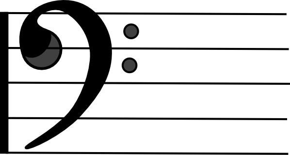 Bass Clef clip art Free vector in Open office drawing svg ( .svg.