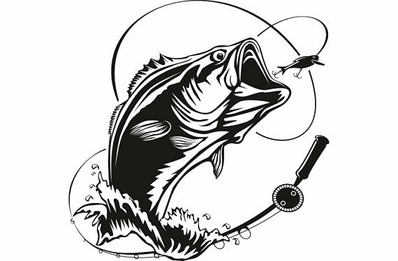 Clip Art Fish Bass Fishing Clip Art Free P #170582.