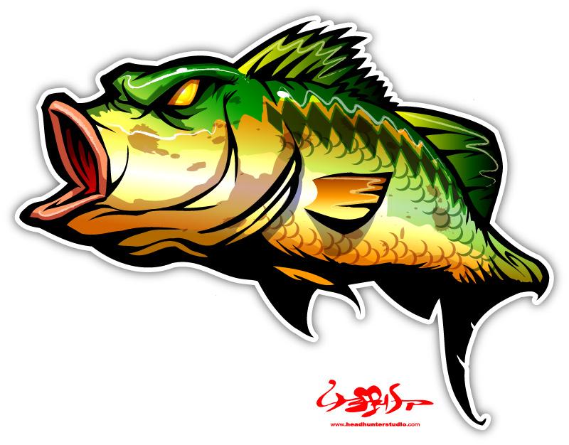 Bass clipart 8.