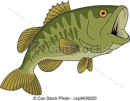 Bass fish pictures clip art.