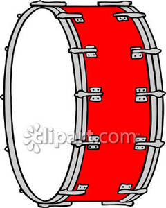 Broken Bass Drum Clipart.