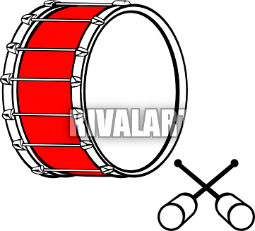 Marching Bass Drum Clip Art.