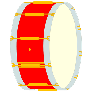Bass drum clip art.