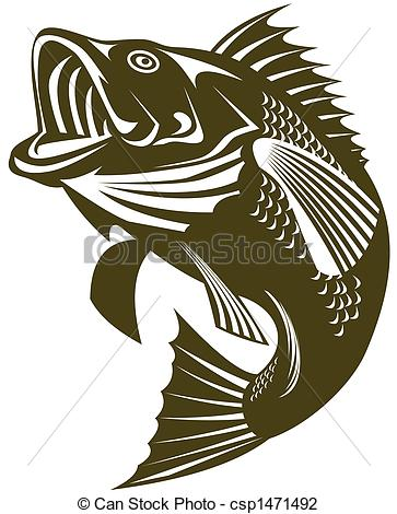Largemouth bass Illustrations, Graphics & Clipart.