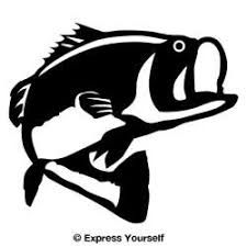 Image result for clip art drawing of a bass fish.
