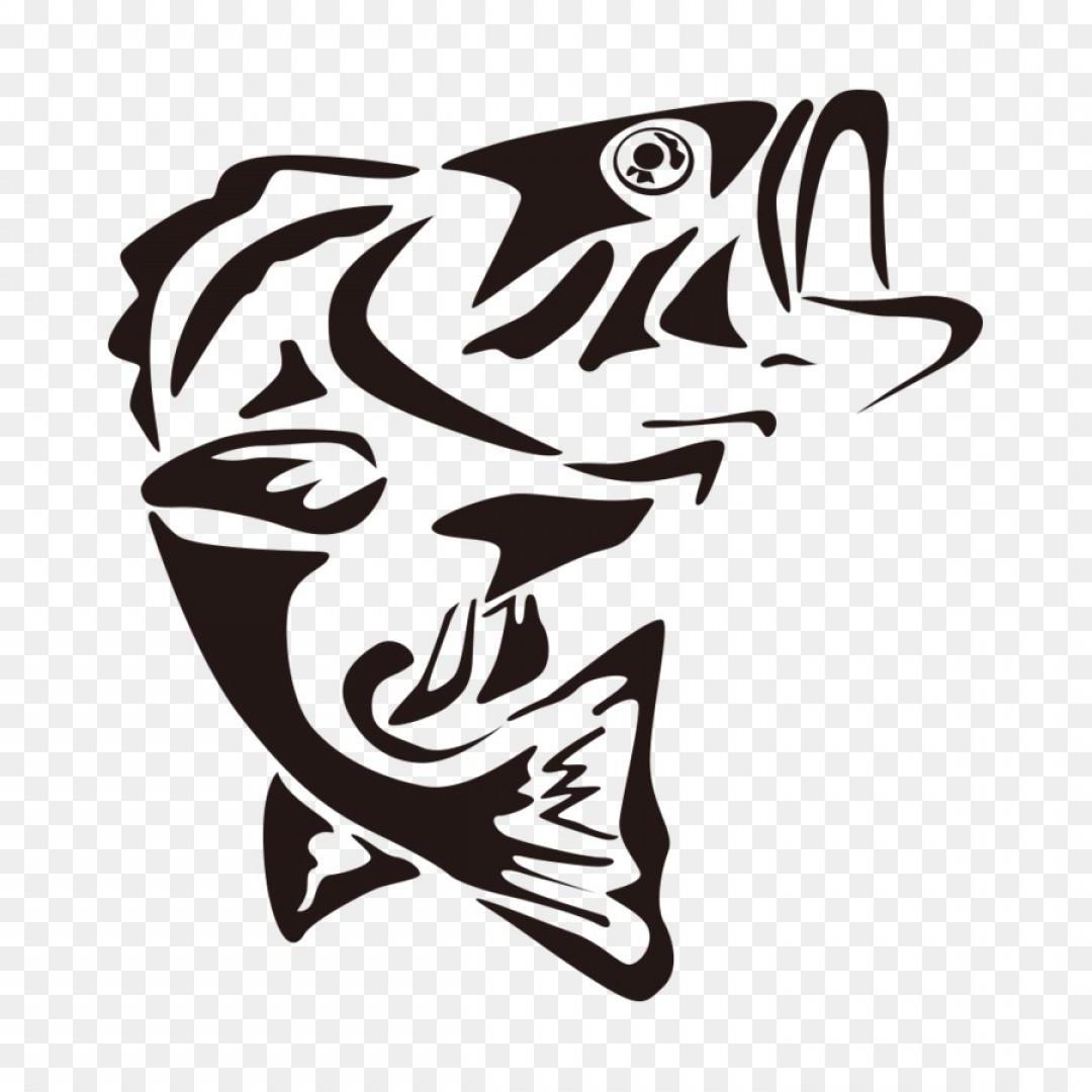 Best Bass Fish Silhouette Clip Art Design » Free Vector Art, Images.