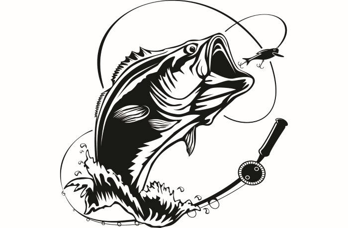 Bass Fishing Clipart & Free Clip Art Images #13505.