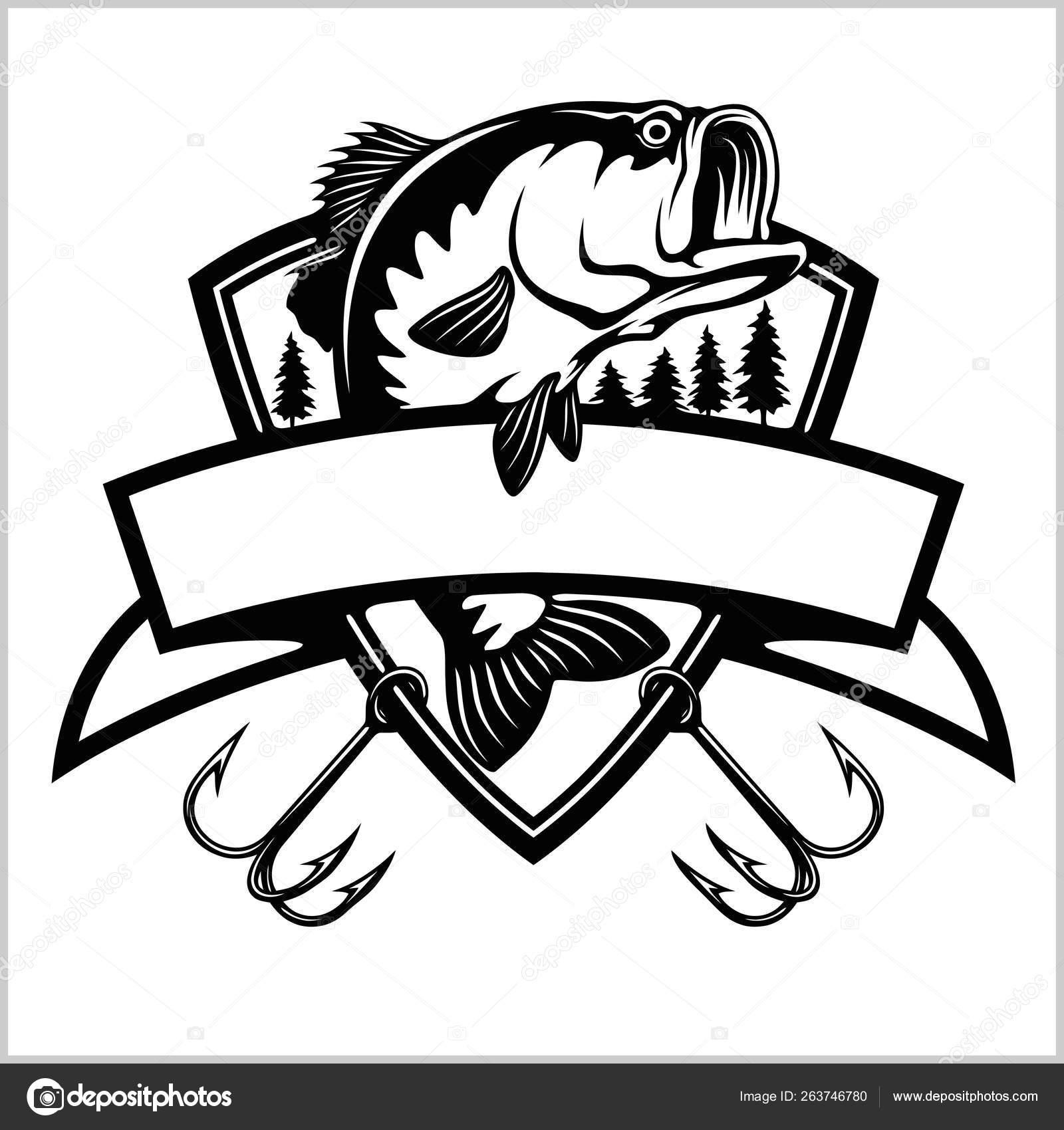 Clipart: bass fish.
