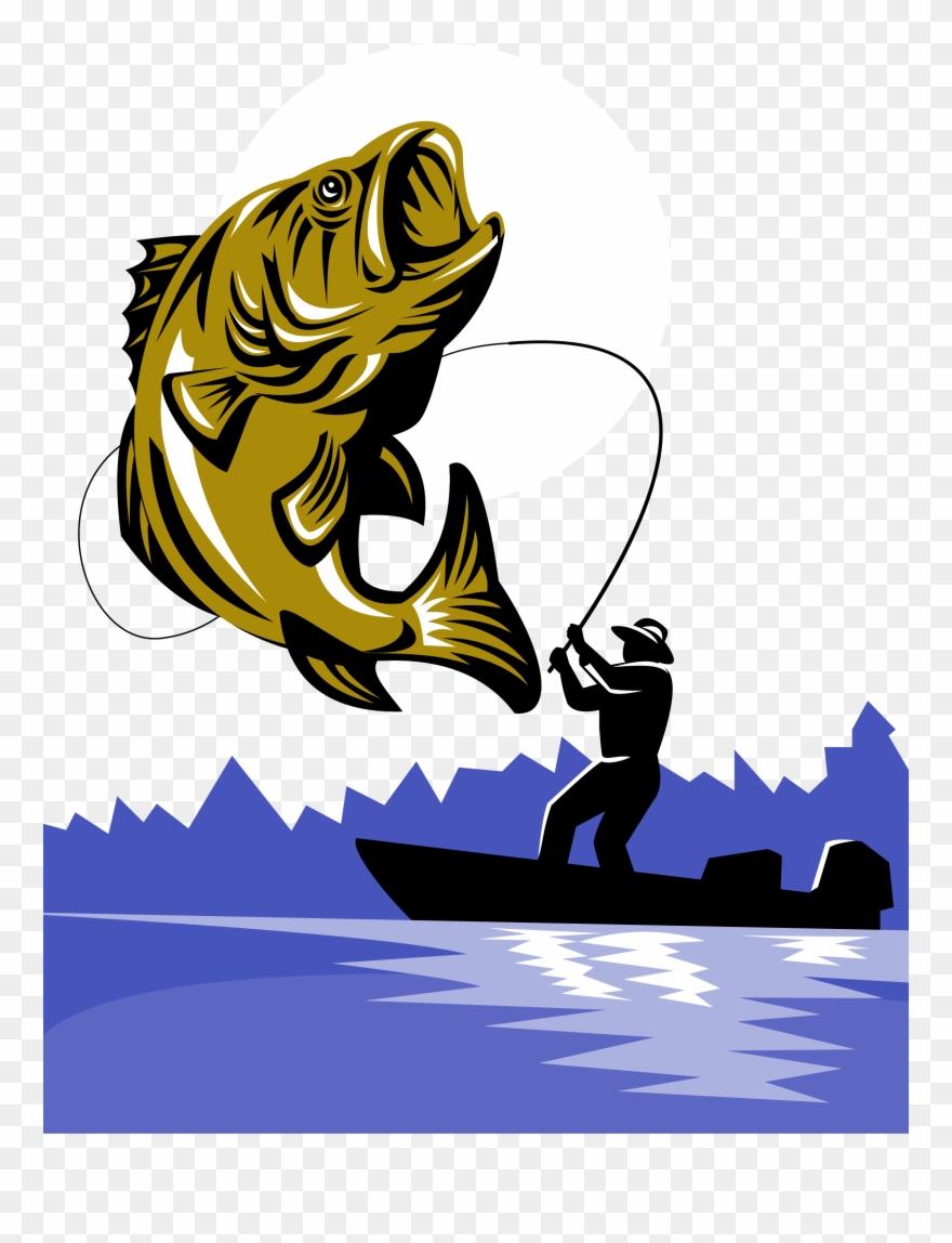Png Black Bass Fishing Rod.