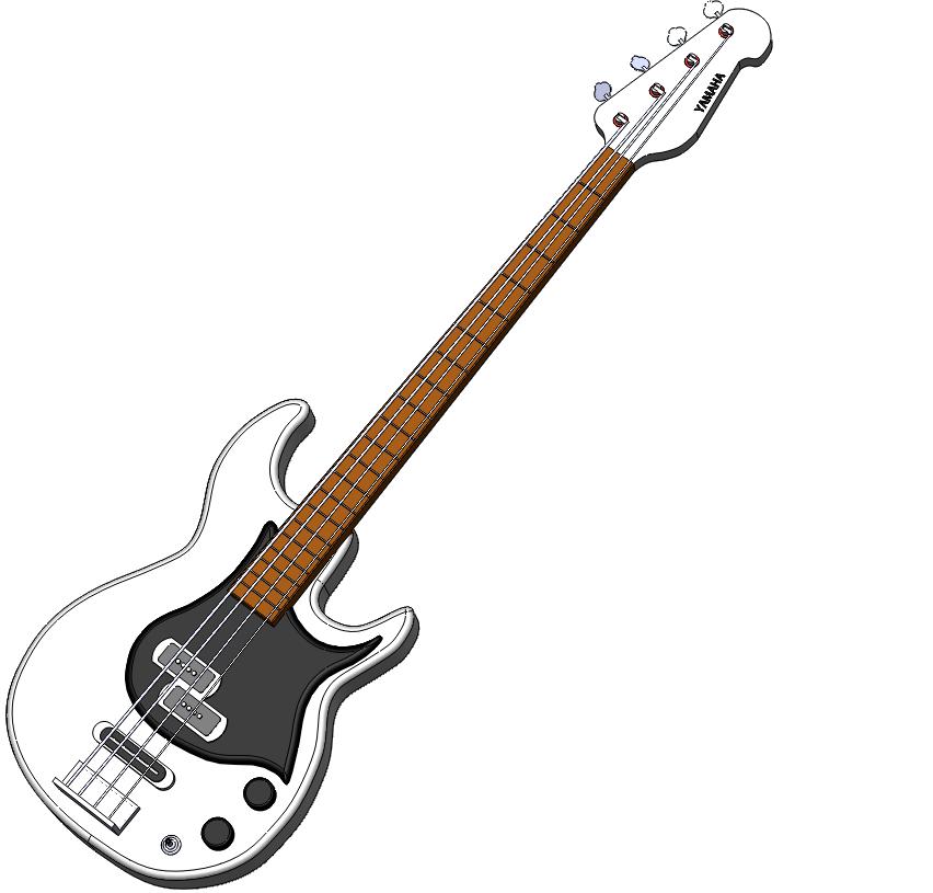 Bass Guitar PNG Clipart.