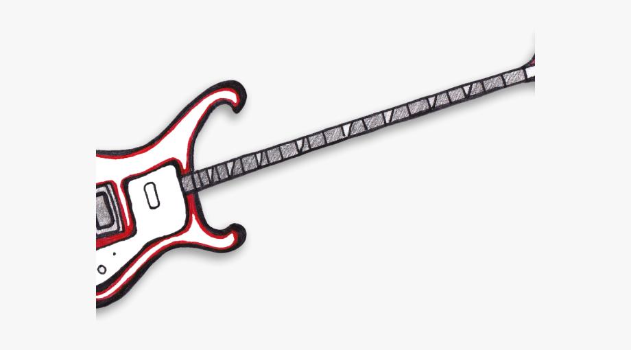 Bass Guitar Clipart Simple.