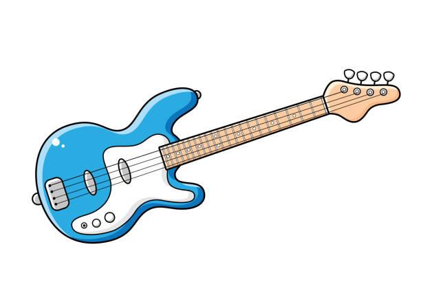 Best Bass Guitar Illustrations, Royalty.
