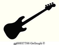 Bass Guitar Clip Art.