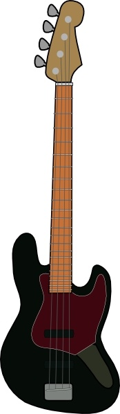Jazz Bass Guitar clip art Free vector in Open office drawing svg.