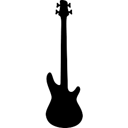FREE SVG Bass Guitar Silhouette.