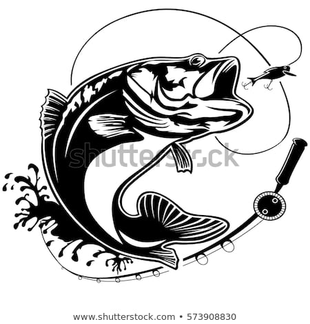 Vector Images, Illustrations and Cliparts: Fishing logo. Bass fish.