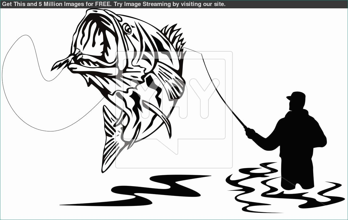 Bass Jumping Out Water Jumping Bass Clip Art clipart Cheerful fish.