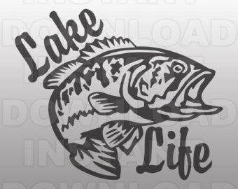 Lake life clip art.