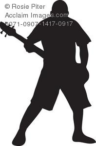 Rock Musician Clip Art Picture.