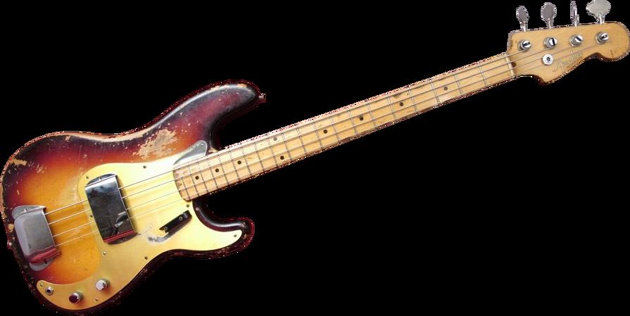 1958 fender precision bass guitar.