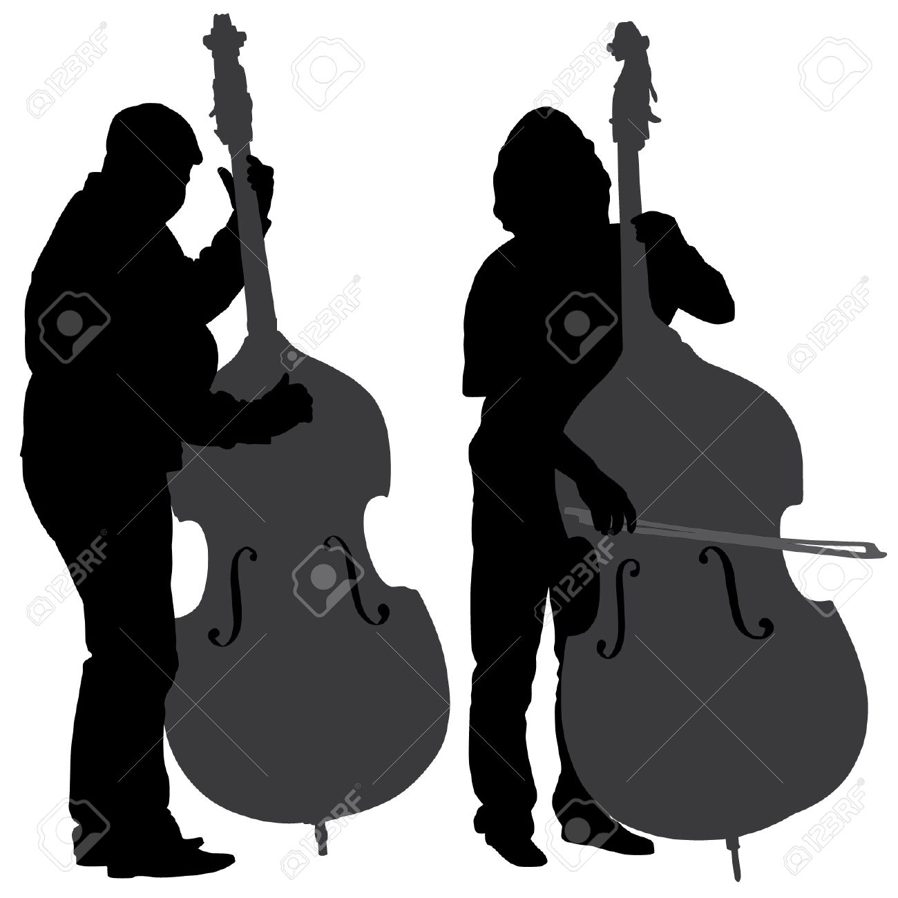 1,013 Double Bass Stock Vector Illustration And Royalty Free.