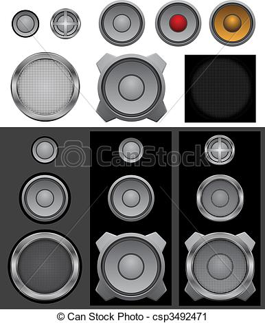 Vector Clip Art of Speaker basic.