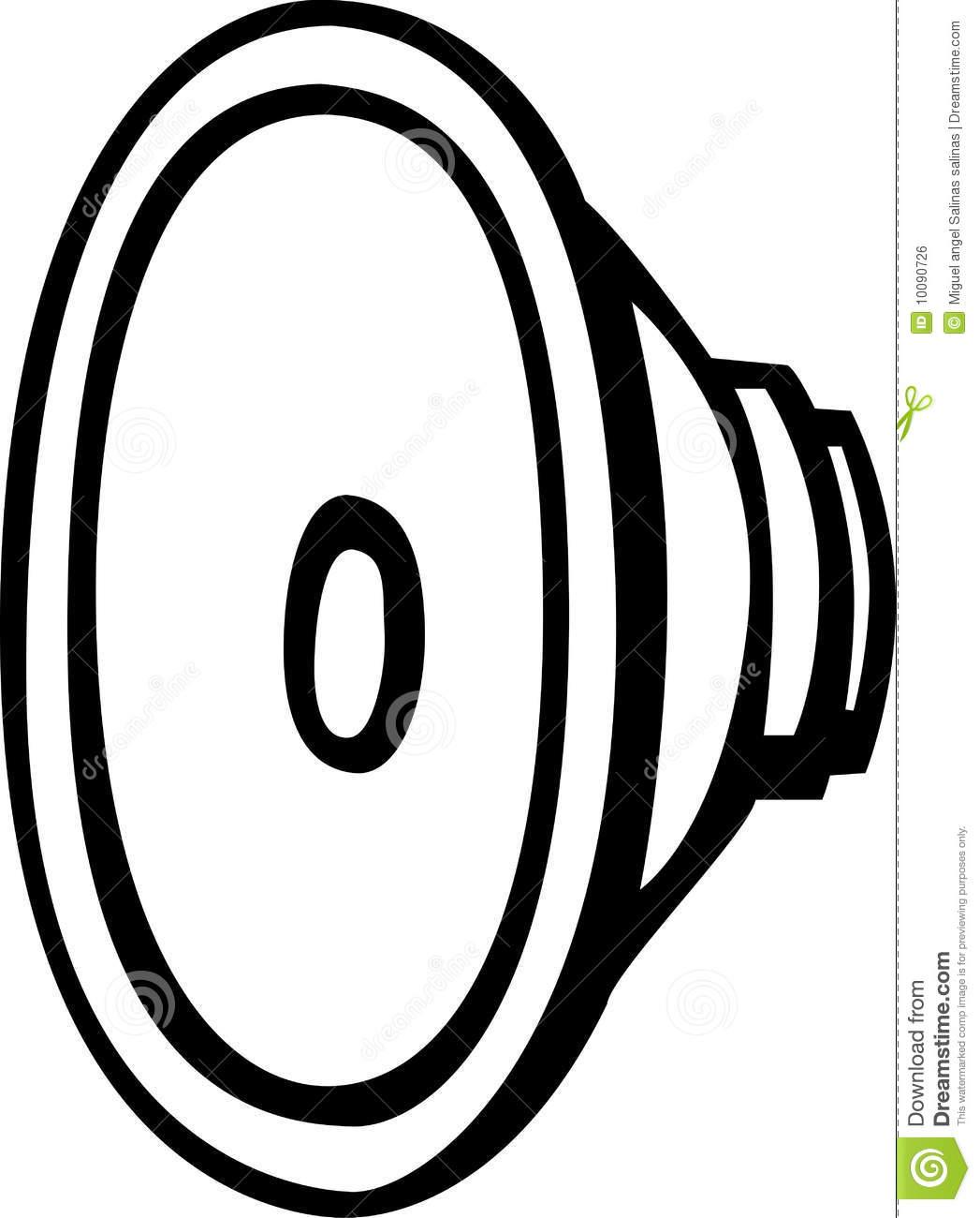 Speaker Driver Vector Illustration Royalty Free Stock Image.