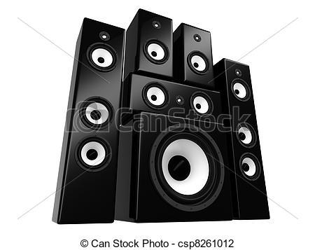 Clip Art of Speakers.