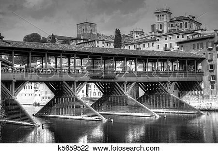 Clip Art of Old bridge of Bassano del Grappa k5659522.