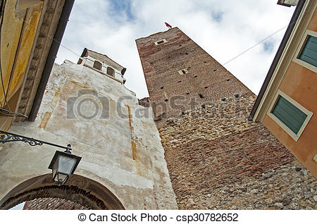 Stock Images of Town in Italy.