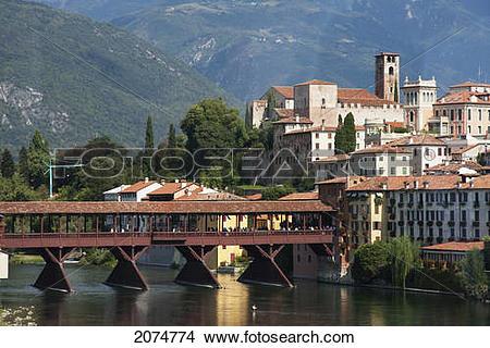 Stock Photo of Ponte Degli Alpini, Designed By Architect Andrea.