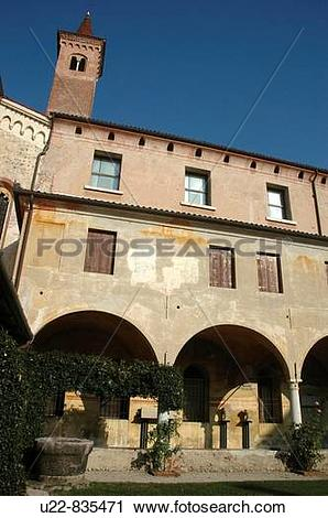 Stock Photography of Bassano del Grappa Italy, the cloister of the.