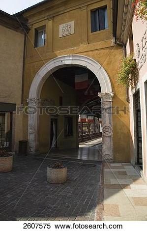 Stock Image of Archway of palace, Bassano Di Grappa, Ponte Degli.