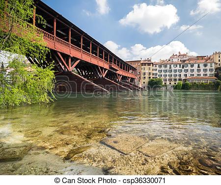 Picture of Bridge of the Alpini in Bassano del Grappa, Vicenza.